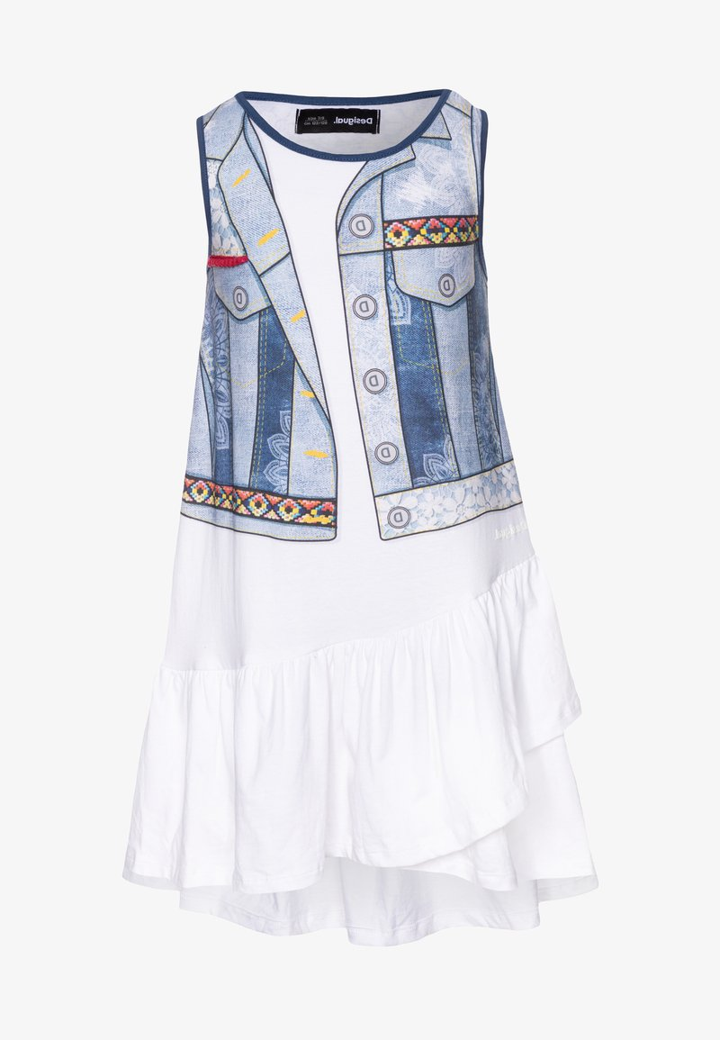 Desigual - CUAUTITLÁ - Jersey dress - blanco