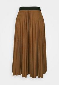 Esprit - PLISEE SKIRT - Pleated skirt - toffee - 1