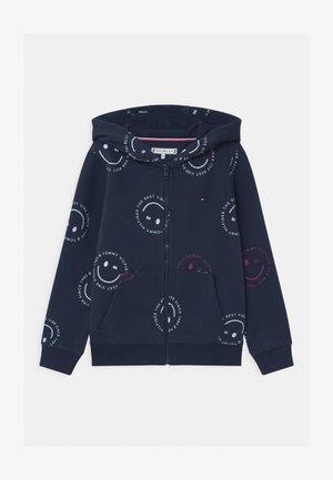 PRINTED SMILE FULLZIP HOODIE UNISEX - Zip-up hoodie - blue