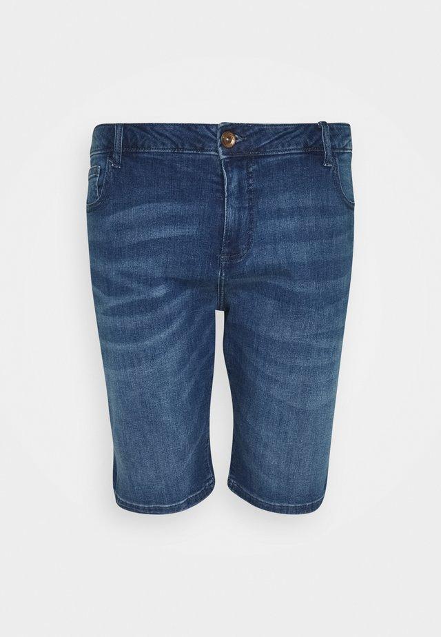 LODGER PLUS - Denim shorts - stone used