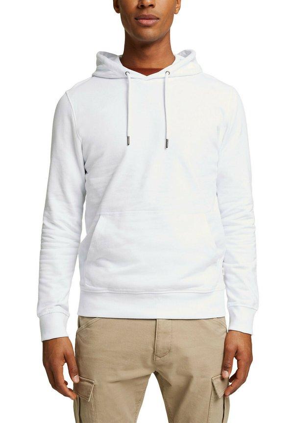 Esprit Bluza z kapturem - white/biały Odzież Męska QKDG
