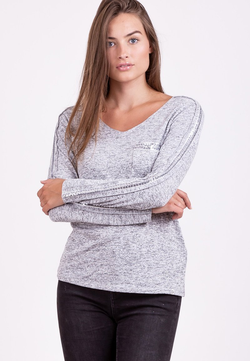 Key Largo - Long sleeved top - grey mel.