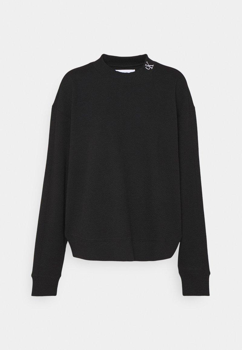 Calvin Klein Jeans - SLUB PANELLED  - Sweatshirt - black