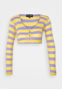 NEW girl ORDER - STRIPE SLEEVE CARDIGAN - Vest - multi - 0