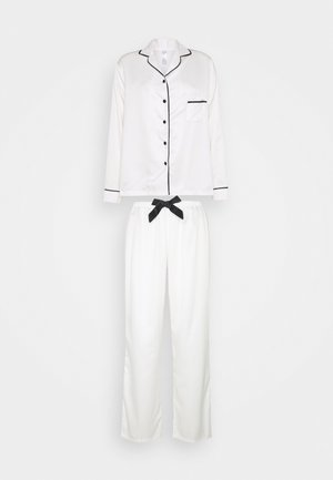 CLAUDIA SHIRT AND TROUSER - Pyjama - cream/black