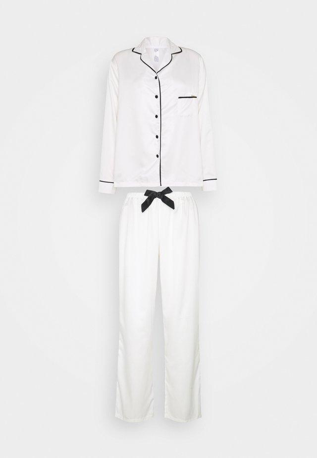 CLAUDIA SHIRT AND TROUSER - Pyjama - cream/black