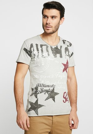 MIDWAY - Print T-shirt - silver
