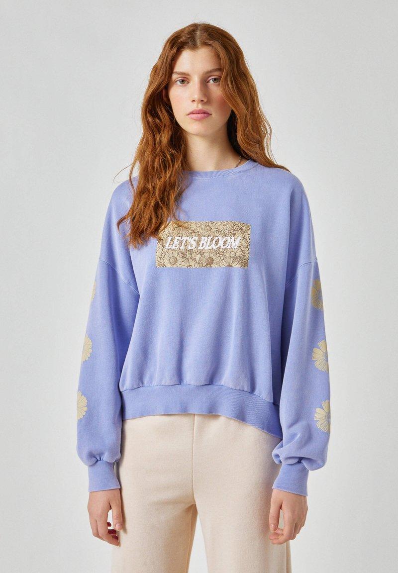 PULL&BEAR - Sweatshirt - mottled blue