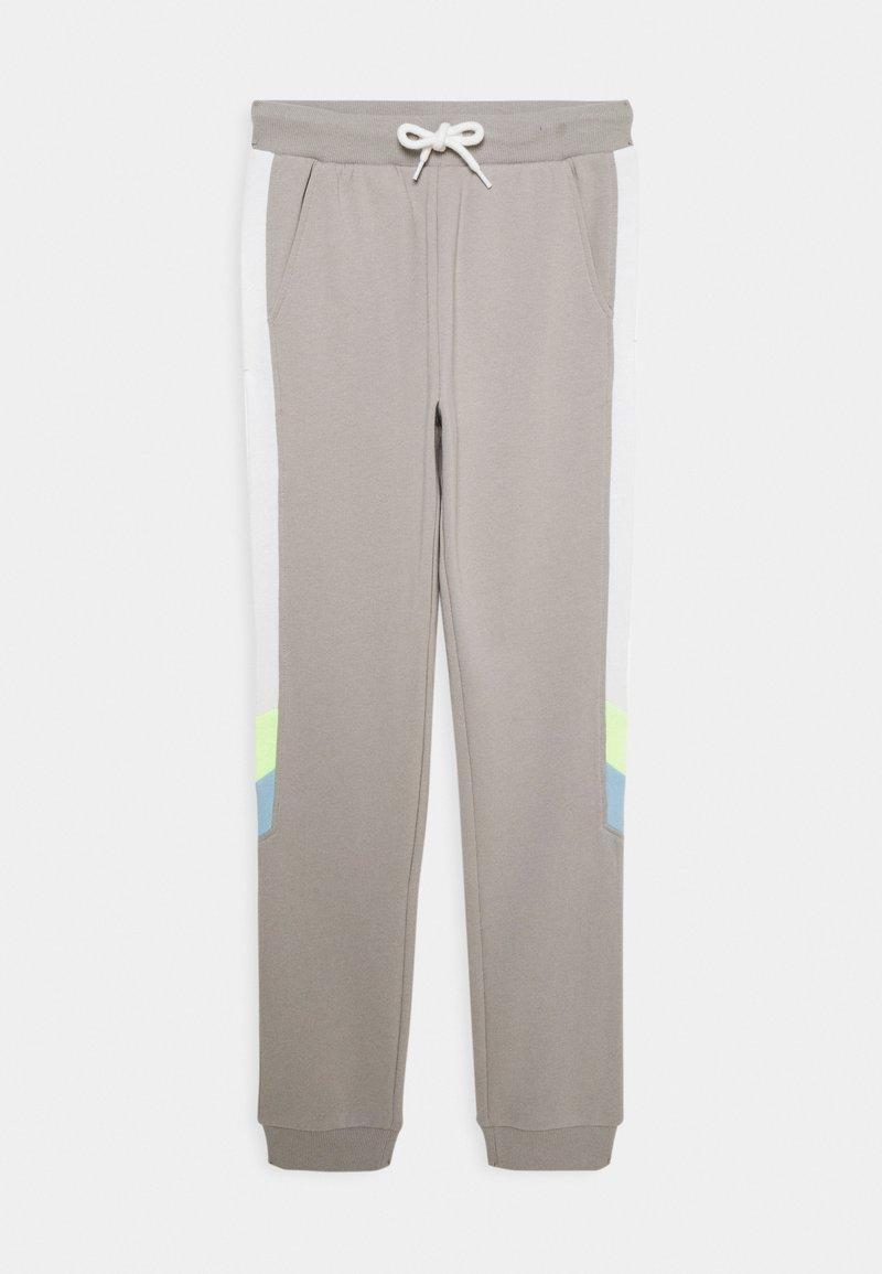 Lindex - TEENS TROUSER NARROW PANEL - Tracksuit bottoms - light dusty grey