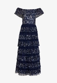 Maya Deluxe - ALL OVER EMBELLISHED TIERED BARDOT MIDAXI DRESS - Occasion wear - navy - 6