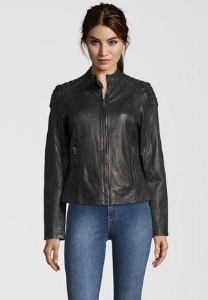 RAFFI - Leather jacket - grey