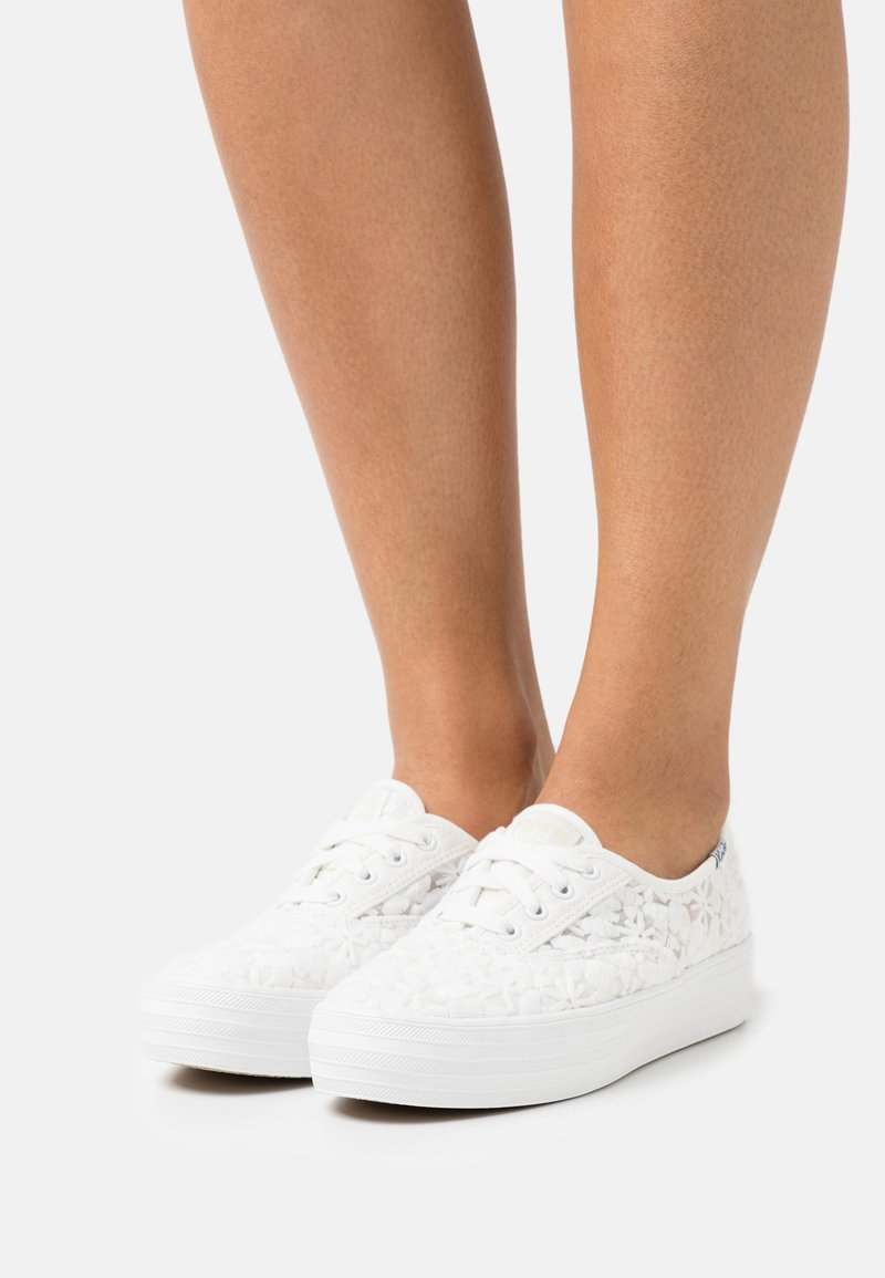 Keds - TRIPLE FLORAL - Trainers - snow white