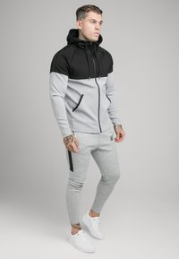 SIKSILK - SIKSILK MOTION TAPE ZIPTHROUGH - Hoodie - black/ grey - 1