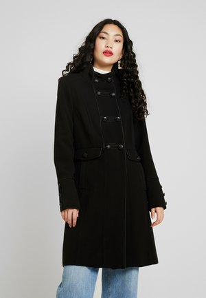 FUNNEL BRAIDED MILITARY - Classic coat - black