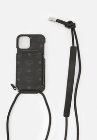 MCM - IPHONE 12/12 PRO CASE WITH ZIP POCKET IN VISETOS ORIGINAL - Phone case - black - 3