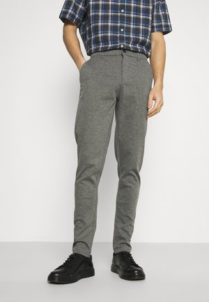 DAVE BARRO - Trousers - dar grey melange