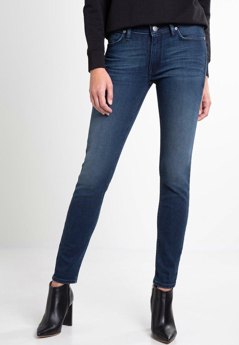 Lee - SCARLETT - Jeansy Skinny Fit - mottled blue