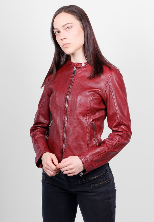 NEW TULA - Leather jacket - crimson red