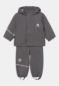 CeLaVi - BASIC RAINWEAR SOLID SET UNISEX - Waterproof jacket - grey - 0