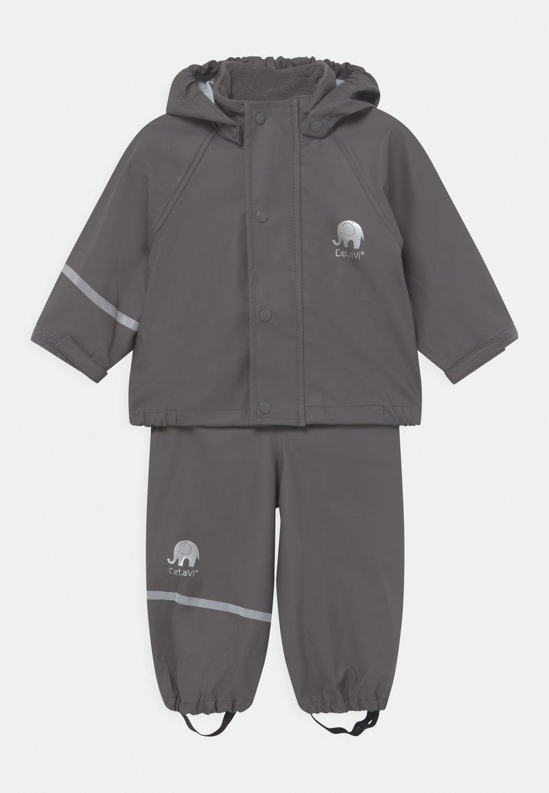 CeLaVi - BASIC RAINWEAR SOLID SET UNISEX - Waterproof jacket - grey