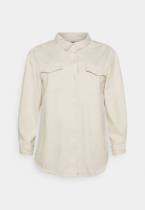 BOYFRIEND FIT OVERSIZED SHIRT - Button-down blouse - sand