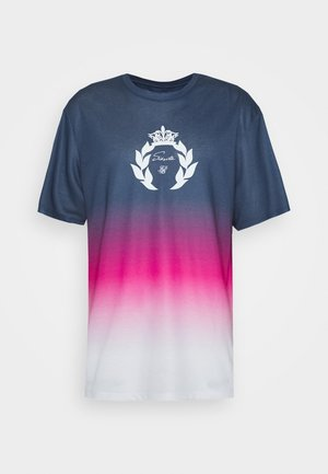ESSENTIAL FADE TEE - T-shirt con stampa - navy/pink/white
