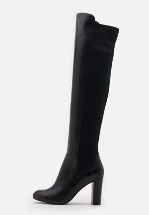 LEATHER - High heeled boots - black