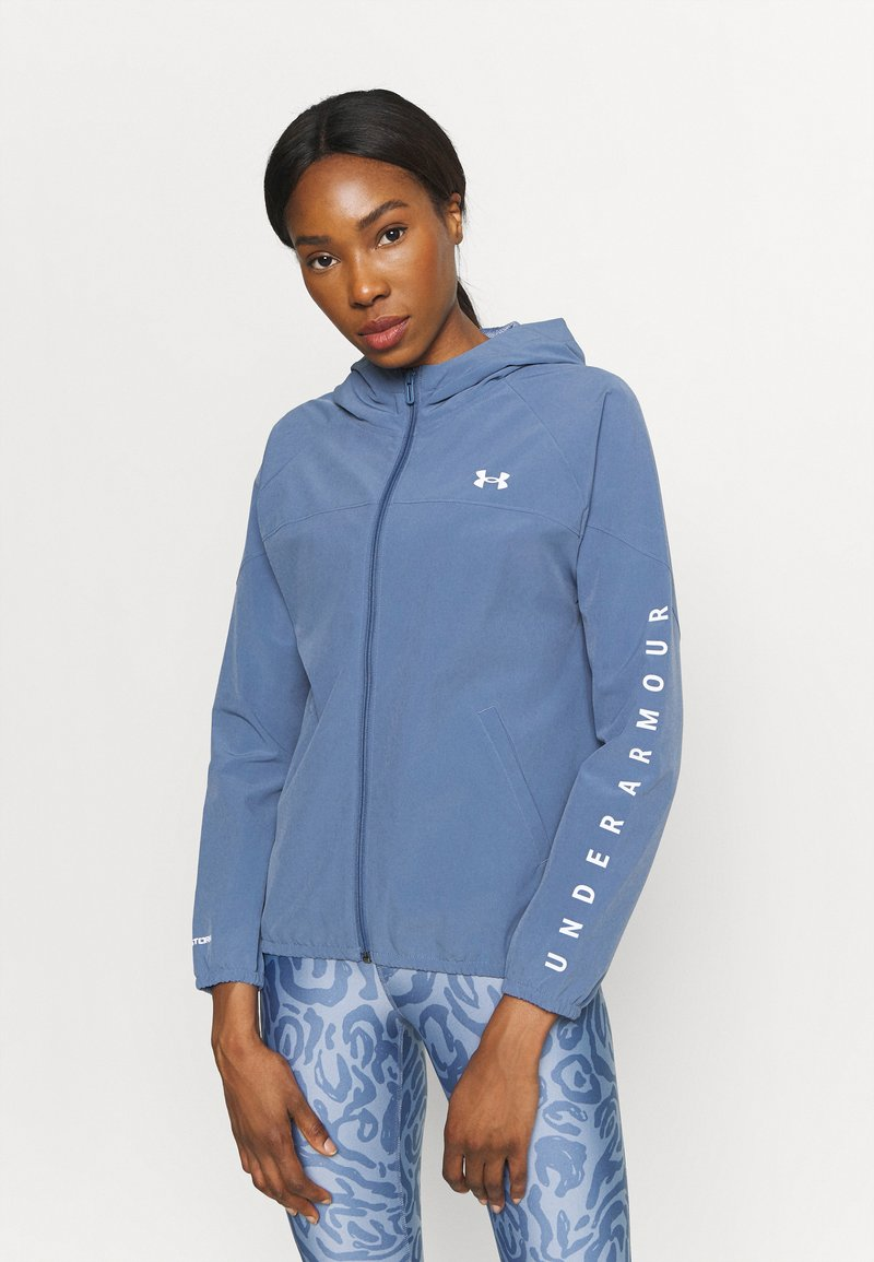 Under Armour - HOODED JACKET - Veste de running - mineral blue