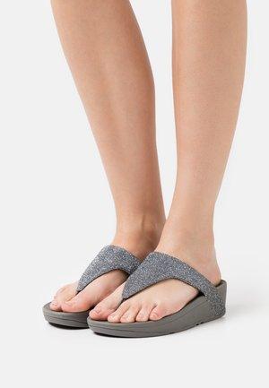 LOTTIE GLITZY - T-bar sandals - pewter