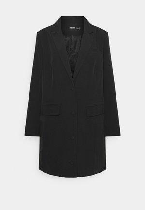 BUTTON FRONT DRESS - Blazer - black