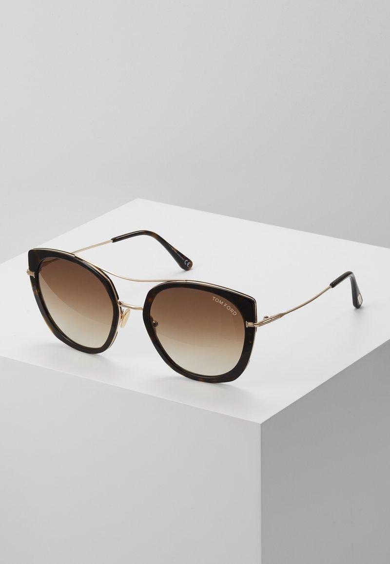 Tom Ford - Sonnenbrille - black/brown