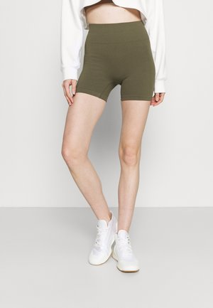 LIFESTYLE SEAMLESS SHORTIE SHORT - Leggings - deep moss
