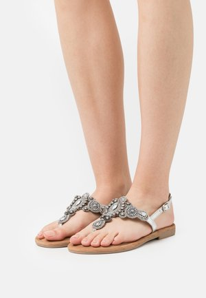 T-bar sandals - silver glam
