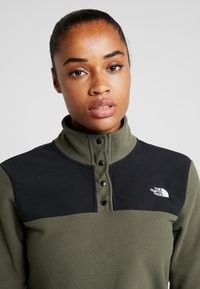 The North Face - GLACIER SNAP NECK  - Felpa in pile - new taupe green/black - 3
