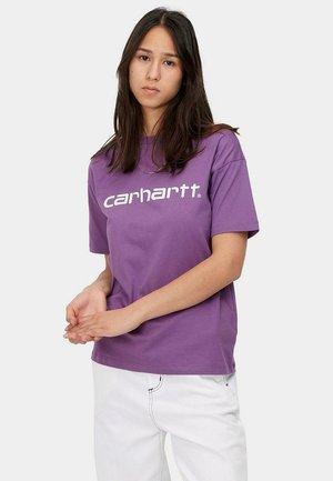 SCRIPT - Camiseta estampada - aster/white