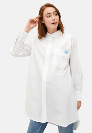 Button-down blouse - brilliant white