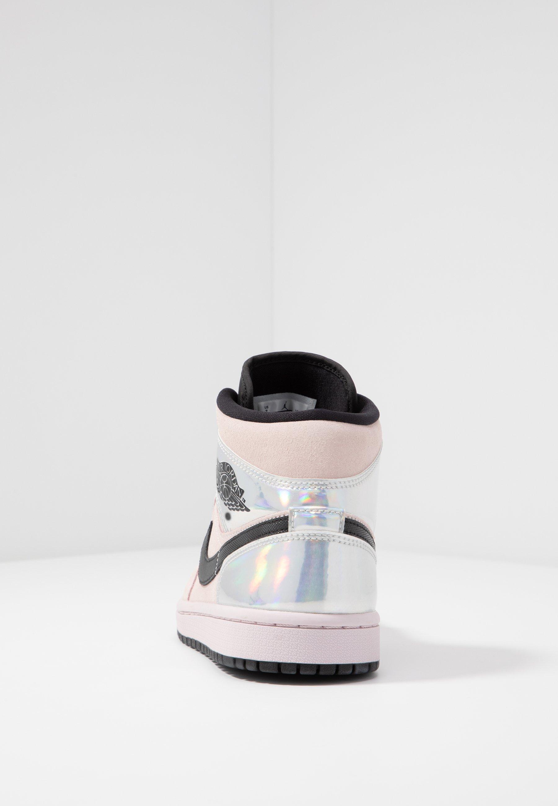 Jordan WOMENS AIR 1 MID - Baskets montantes - barely rose/black ...