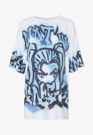 NOT YOUR  - Print T-shirt - blue