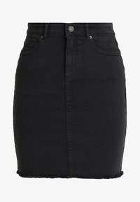 Pieces - PCAIA SKIRT  - Pencil skirt - black denim - 3