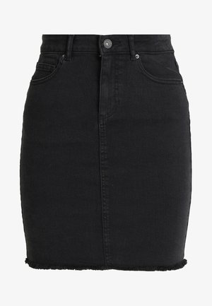 PCAIA SKIRT  - Falda de tubo - black denim