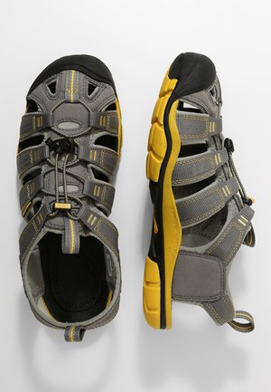 CLEARWATER CNX - Walking sandals - gargoyle/super lemon