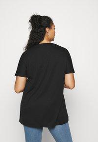 NU-IN - ASYMMETRIC LONG  - T-shirts med print - black - 2