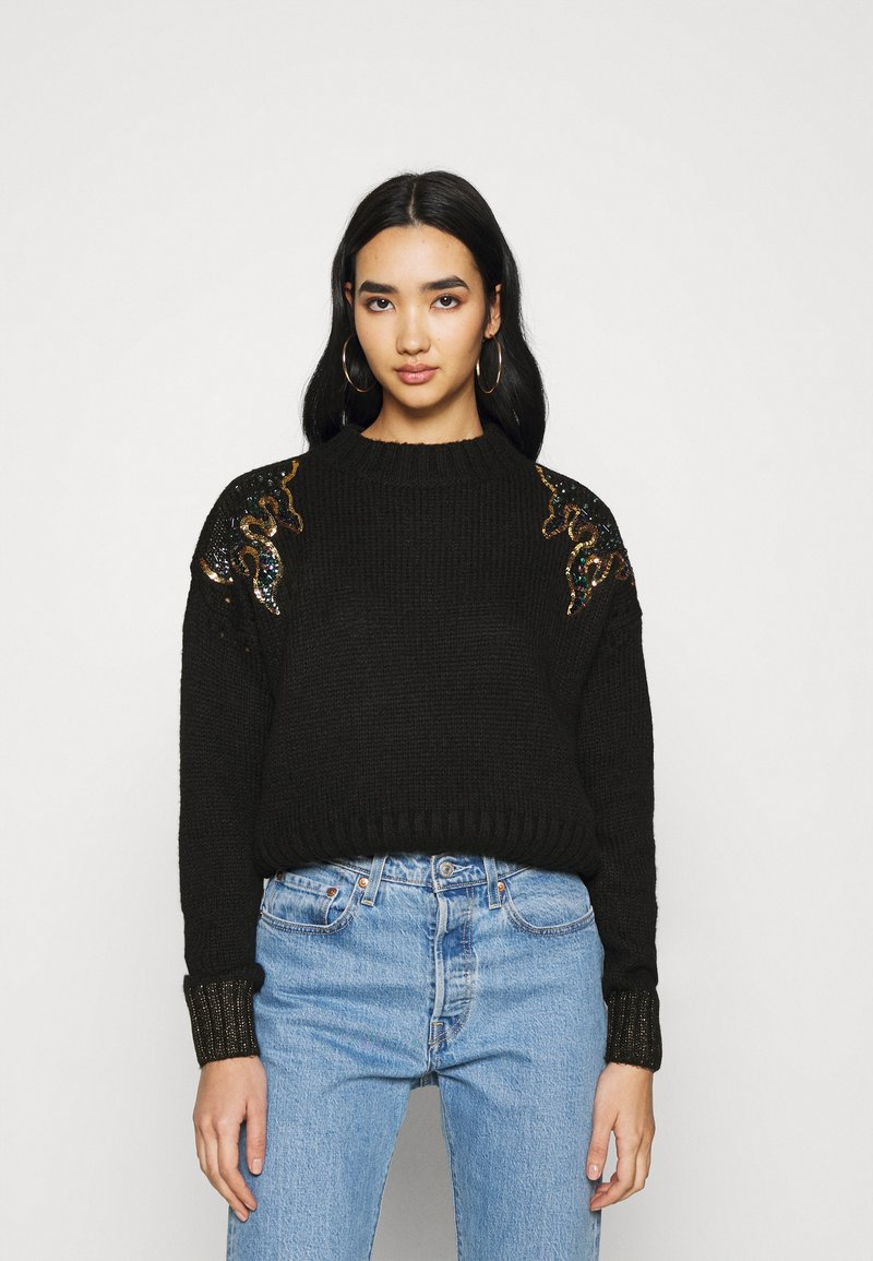 Scotch & Soda - WITH FLAME PATTERN - Jumper - black