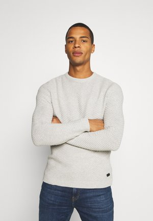 ONSPIERRE STRUCTURE CREW NECK - Pullover - light grey melange
