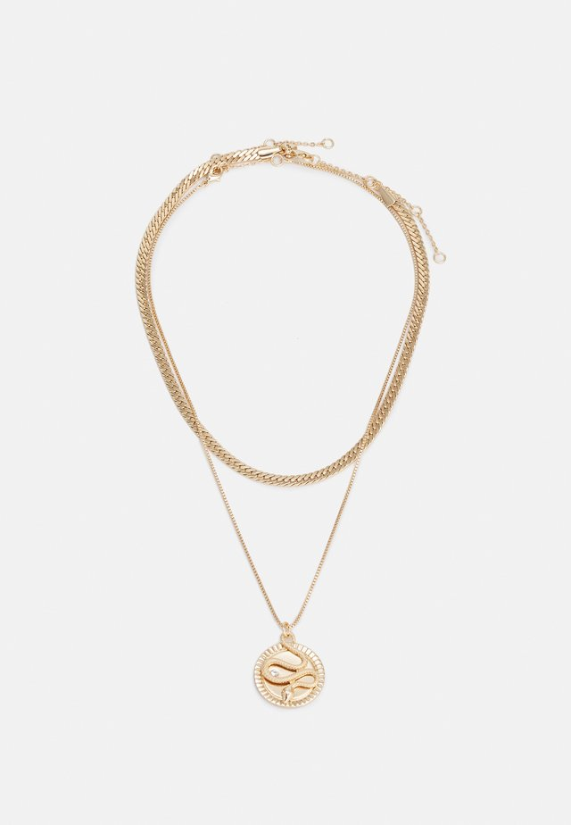 CHIAMMA 2 PACK - Necklace - clear/gold-coloured