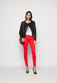 Patrizia Pepe - REAL JACKET - Leather jacket - nero - 1