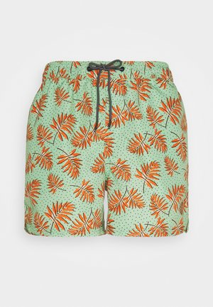 JJIBALI JJSWIMSHORTS DITSY FLOW - Swimming shorts - green ash