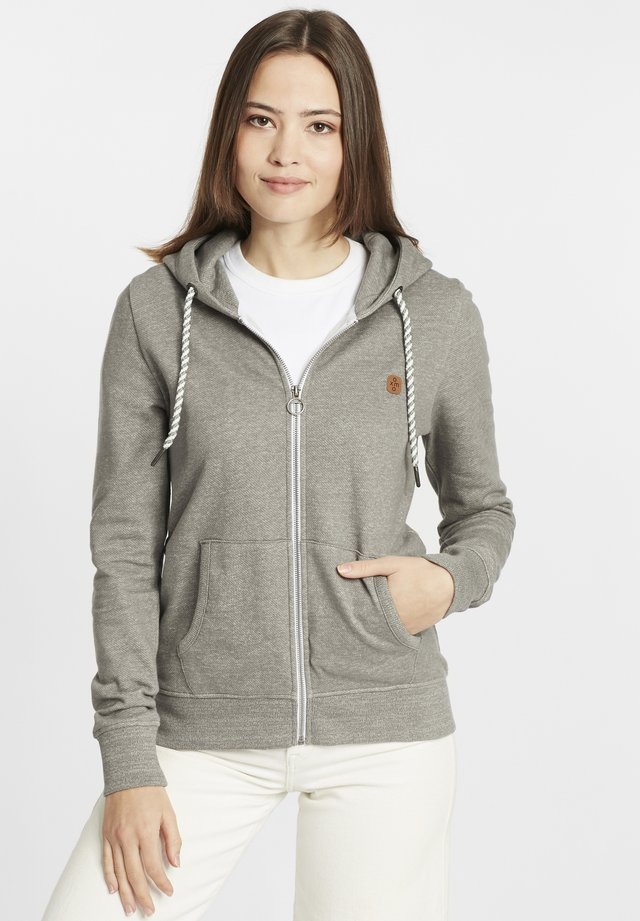 CELIA - Zip-up hoodie - medium grey melange