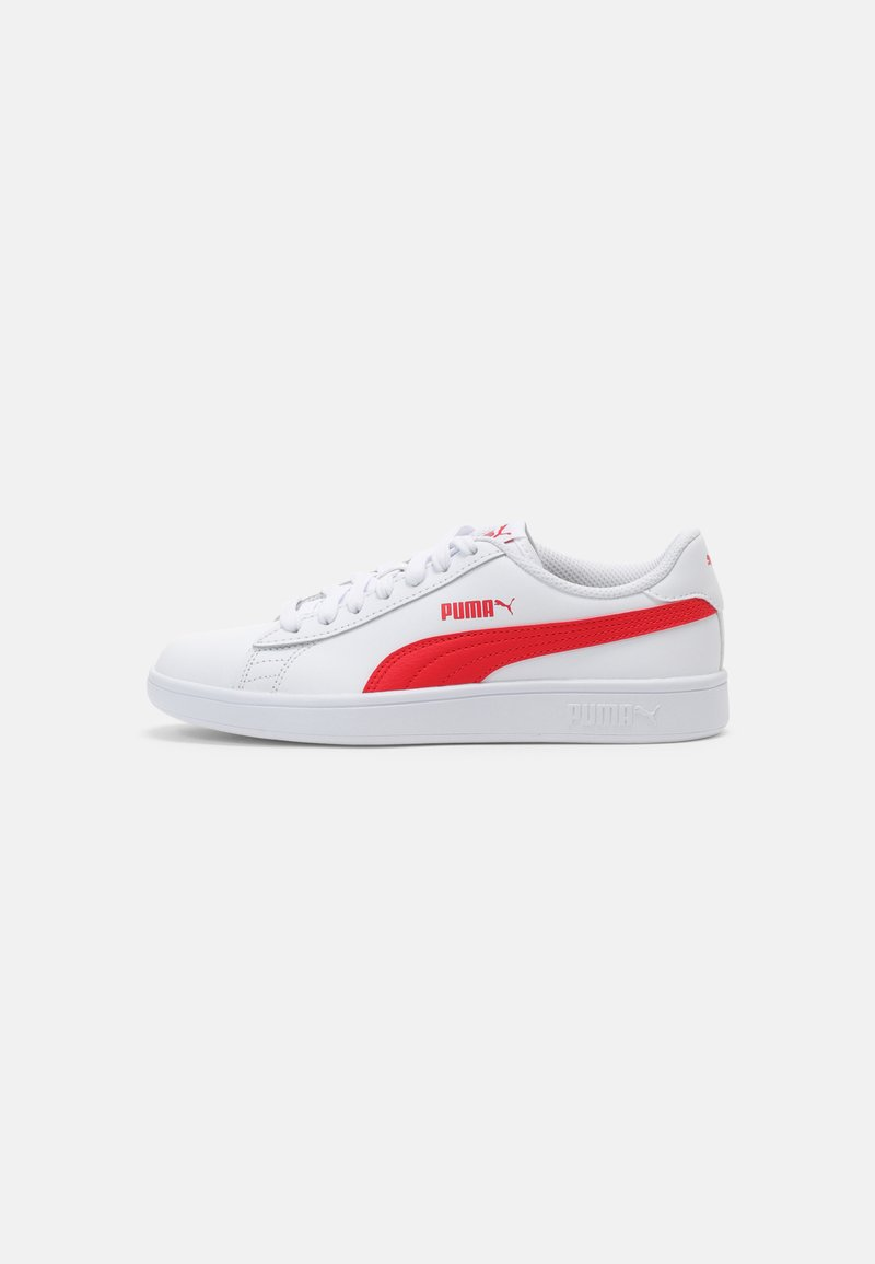 Puma - SMASH UNISEX - Sneakers laag - white/high risk red/gray violet