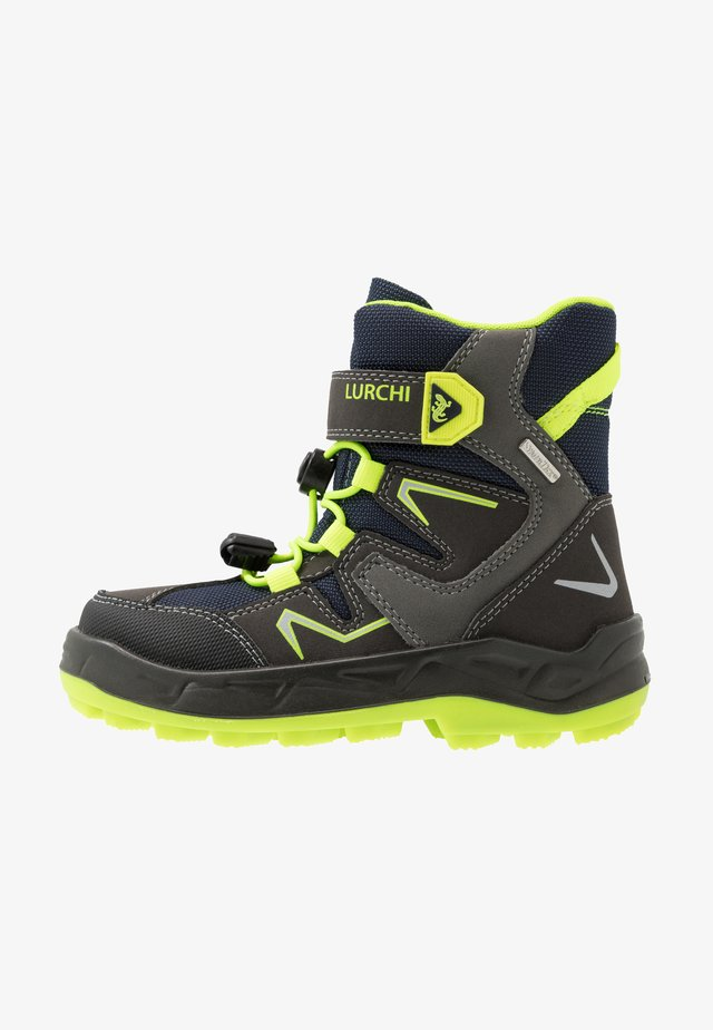 KALINO SYMPATEX - Snowboot/Winterstiefel - black/neon yellow